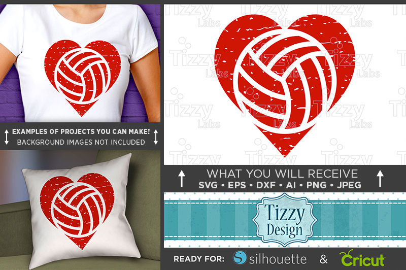 Volleyball Heart Svg File Volleyball Heart Shirt Svg 3007 By