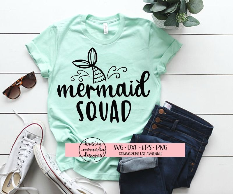 Mermaid Squad Svg Dxf Eps Png Cut File Cricut Silhouette By