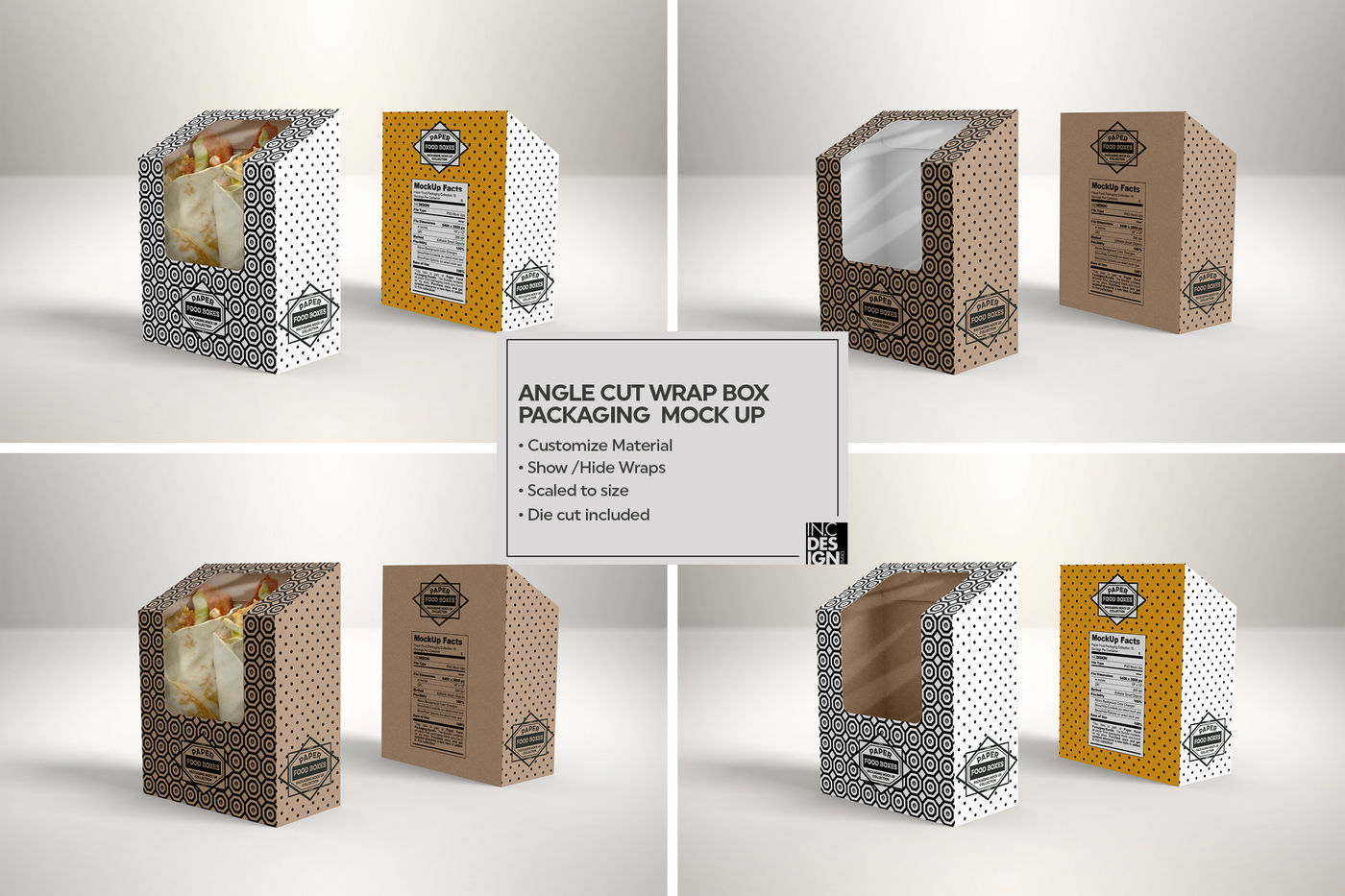 Download Paper Bag Window Mockup Half Side View Yellowimages