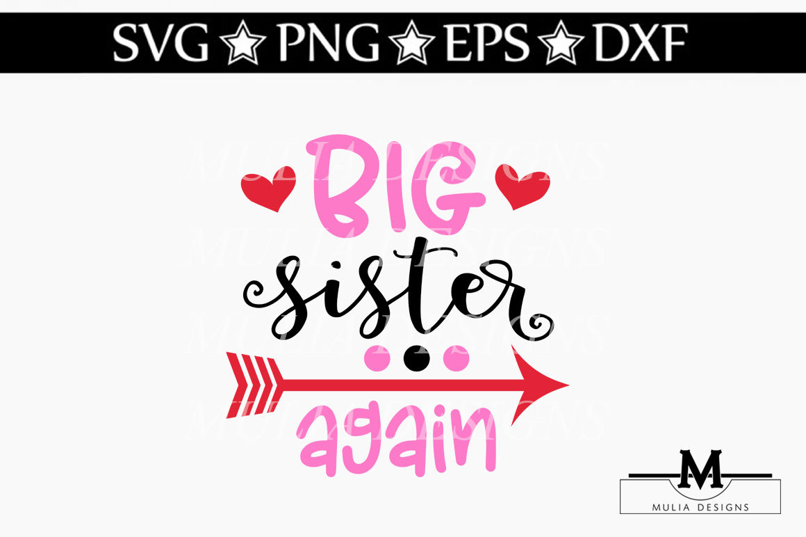 Best Big Sister Ever Svg