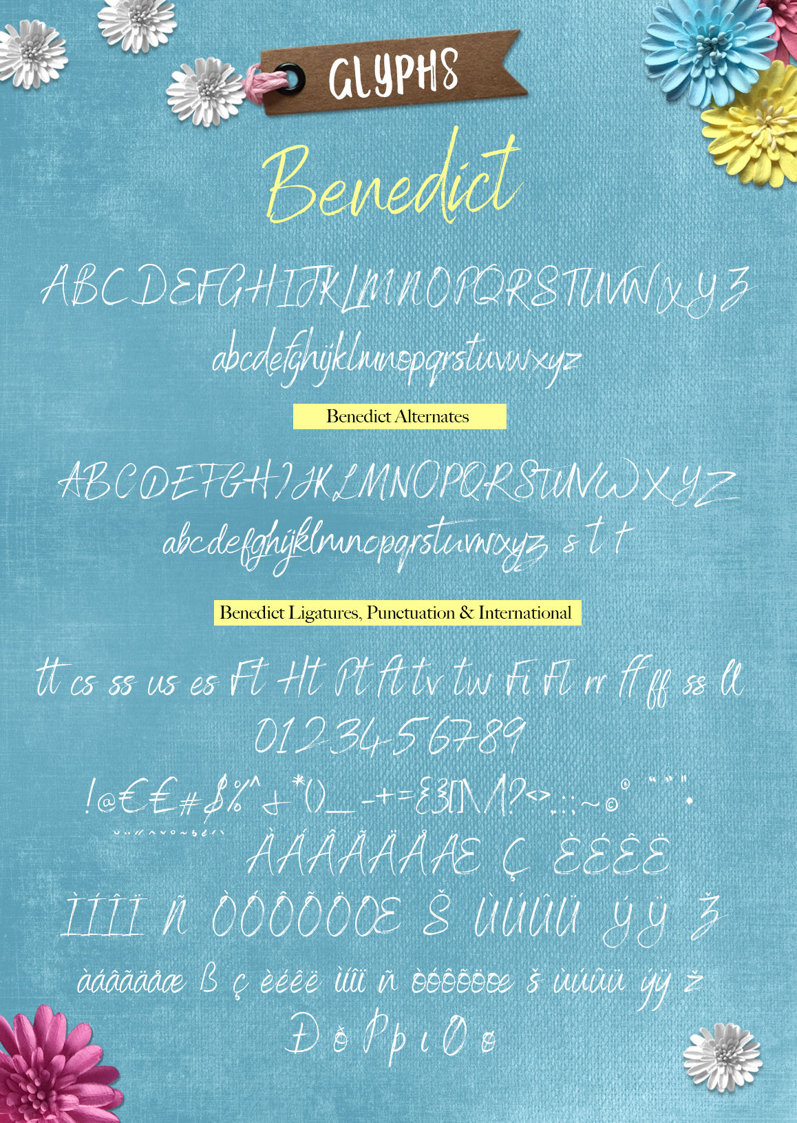 Benedict Font Duo By Joanne Marie Thehungryjpeg Com