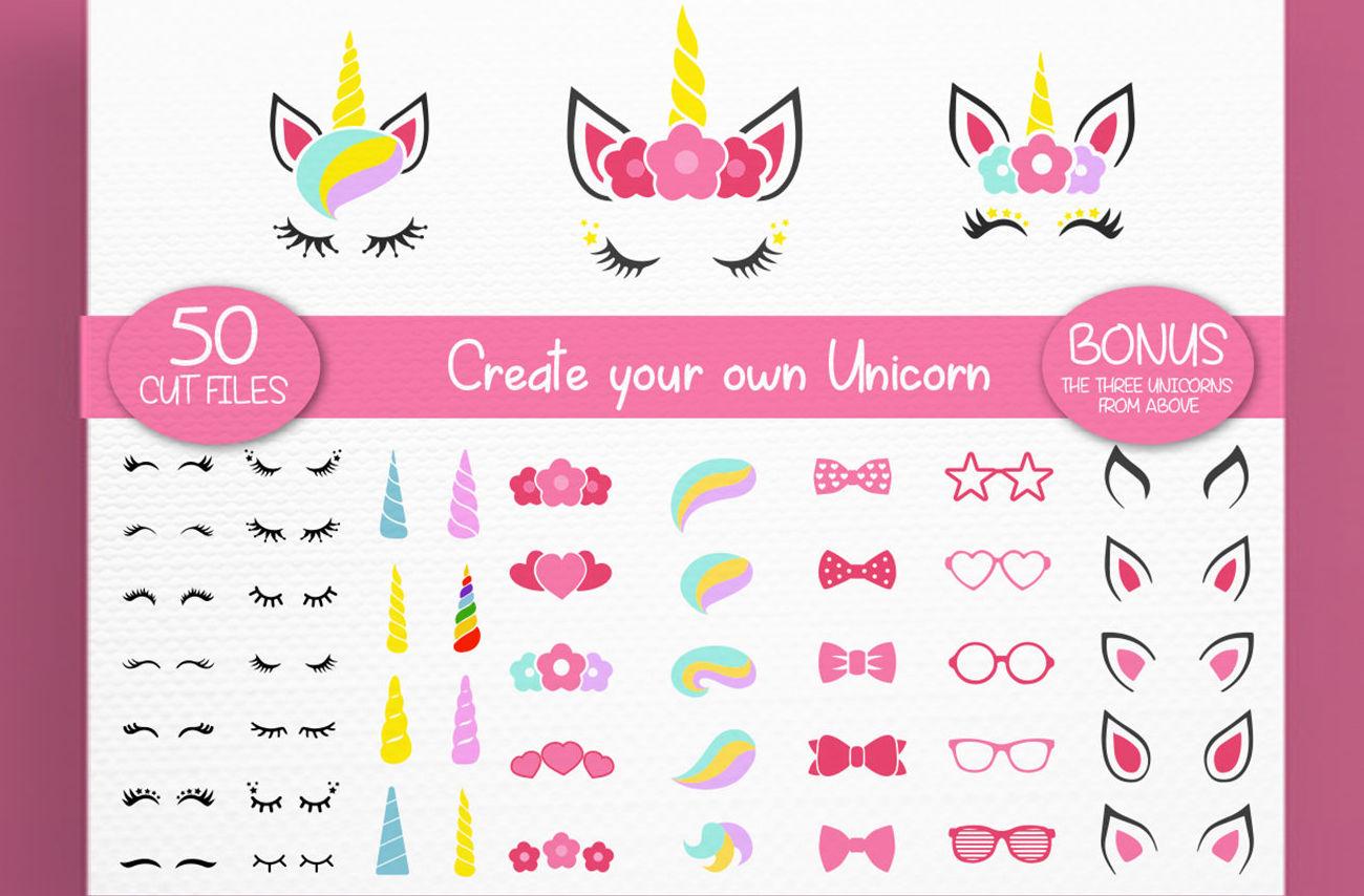 Unicorn Svg Unicorn Kit Svg Create Your Own Lashes Svg