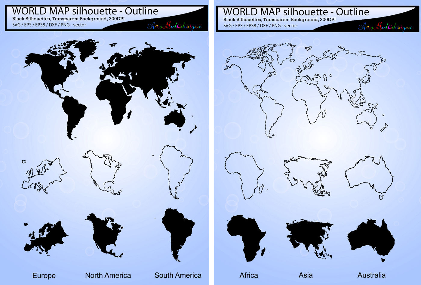 World Map Svg Silhouette World Map Outline Map Silhouette By