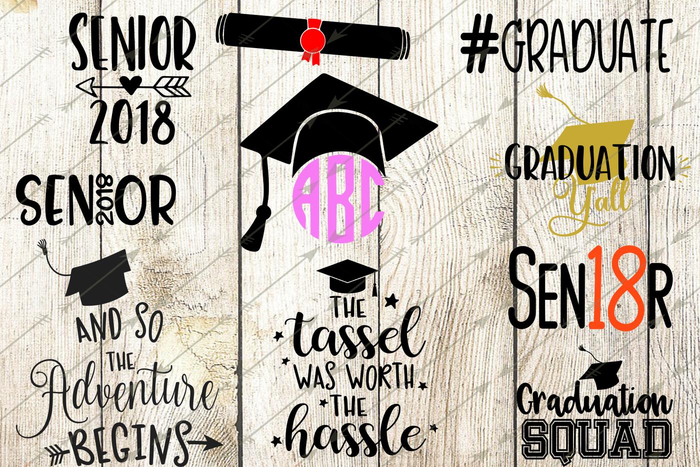 2018 Graduation Svg Bundle Graduation Clip Art Graduation Cap By