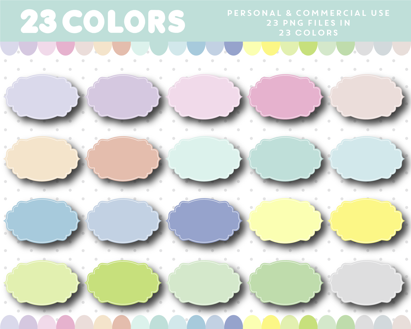 Oval Pastel Frame Clipart Label Clipart Border Clipart Cl 1163