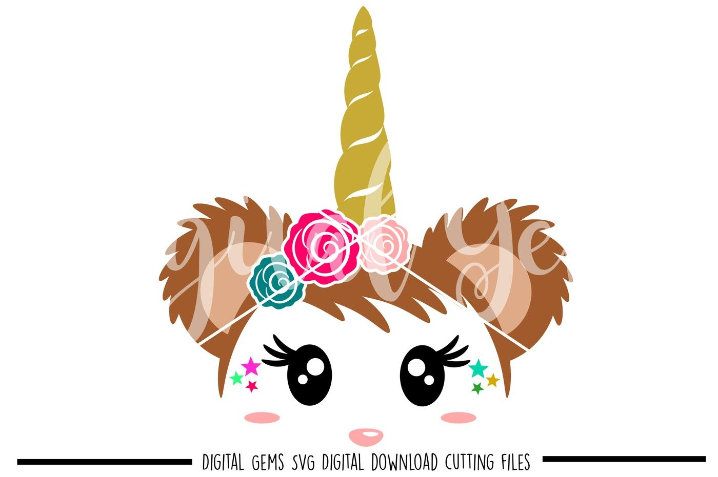Unicorn Bear Svg Dxf Eps Png Files By Digital Gems