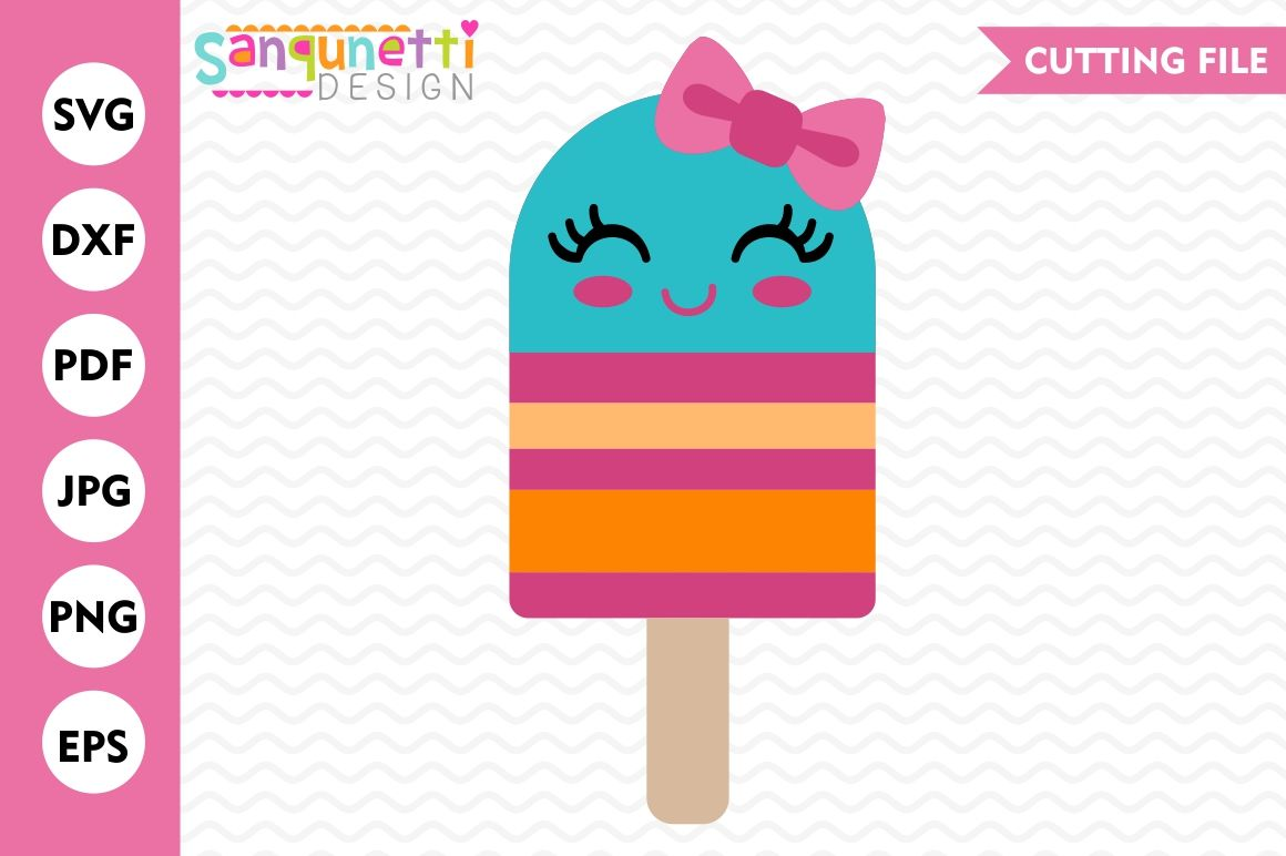 Popsicle Svg Popsicle With Bow Svg Summer Svg Sweets Svg Cut