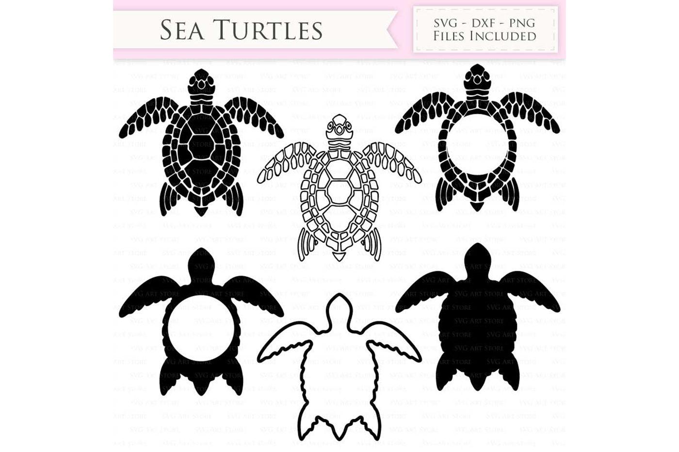 Download Sea Turtle SVG Files and Monogram By SVGArtStore ...