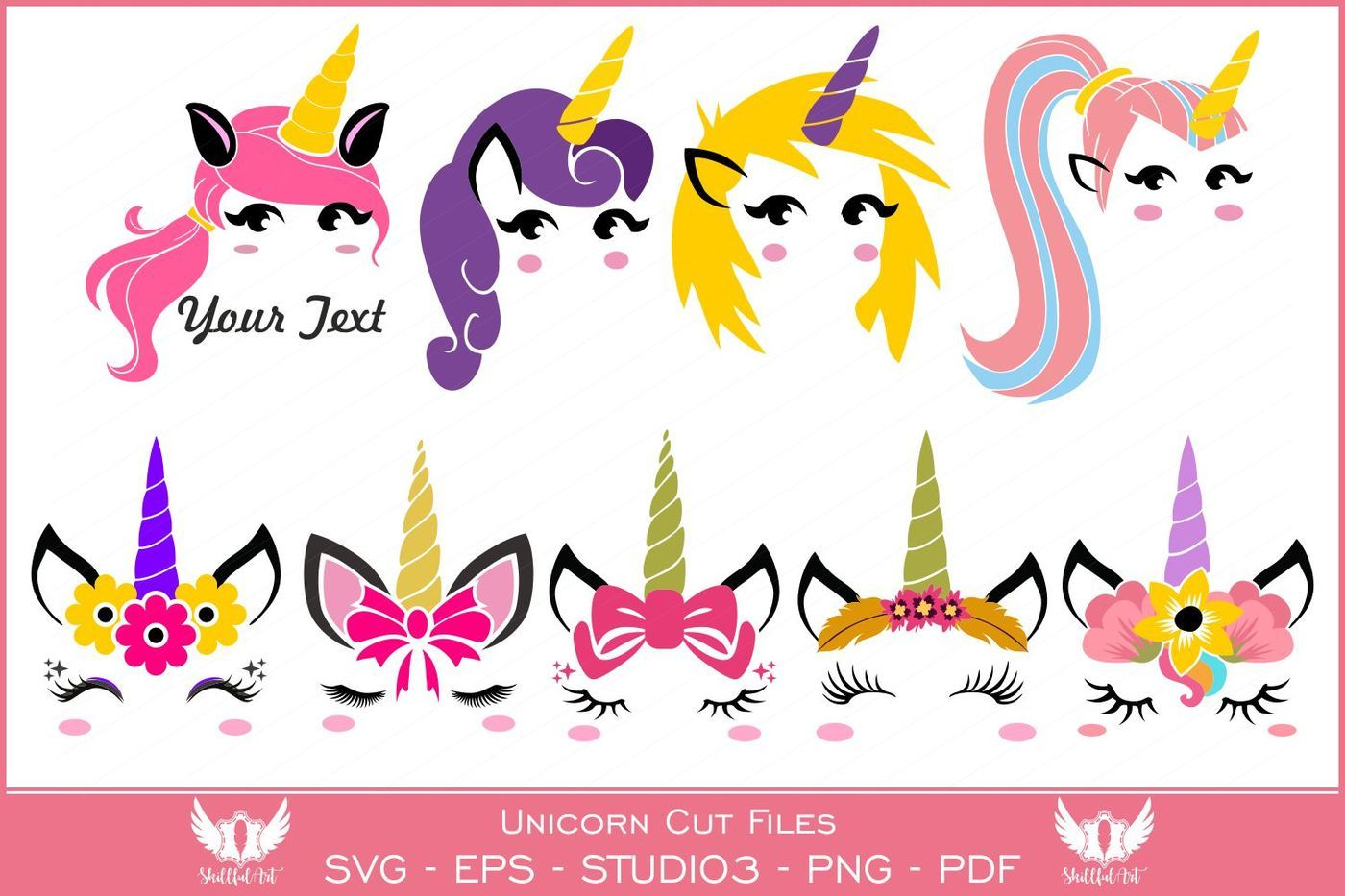 Unicorn Clipart Unicorn Clip Art Unicorn Svg By Skillfulart
