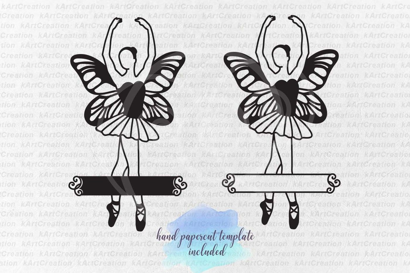 Ballerina With Wings Svg Paper Cutting Template Butterfly Wings