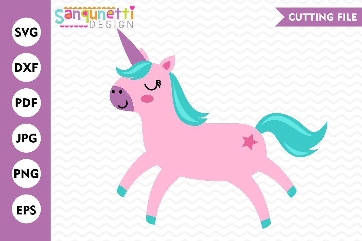 Pink Unicorn Svg Unicorn Svg Unicorn Cut File By Sanqunetti