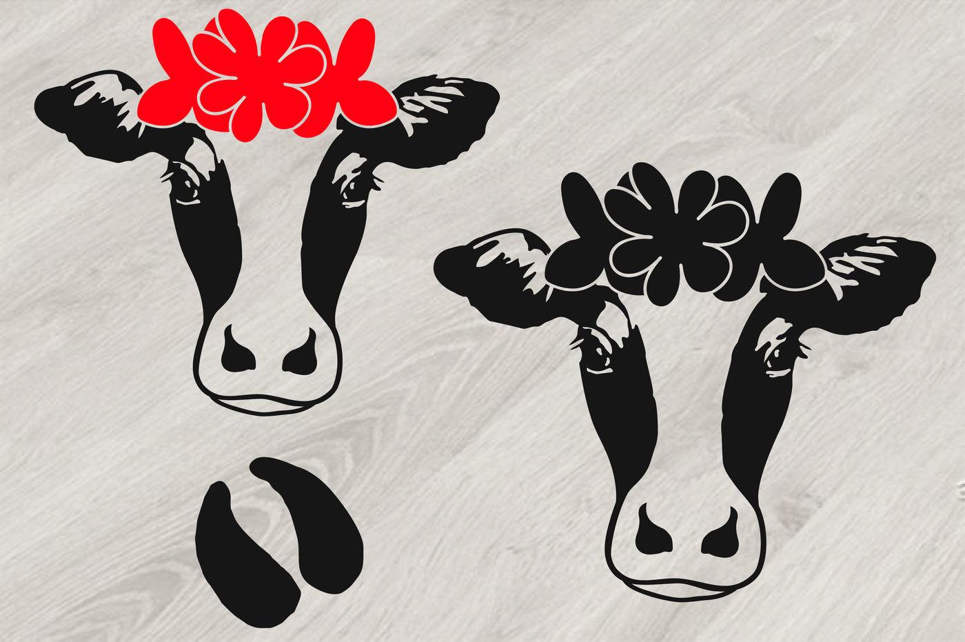 Cricut Cow Head Svg