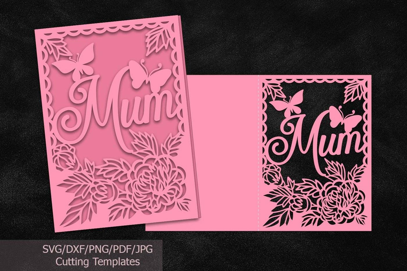 Mothers Day Cards Svg Files File Mom Mum Cutting Template