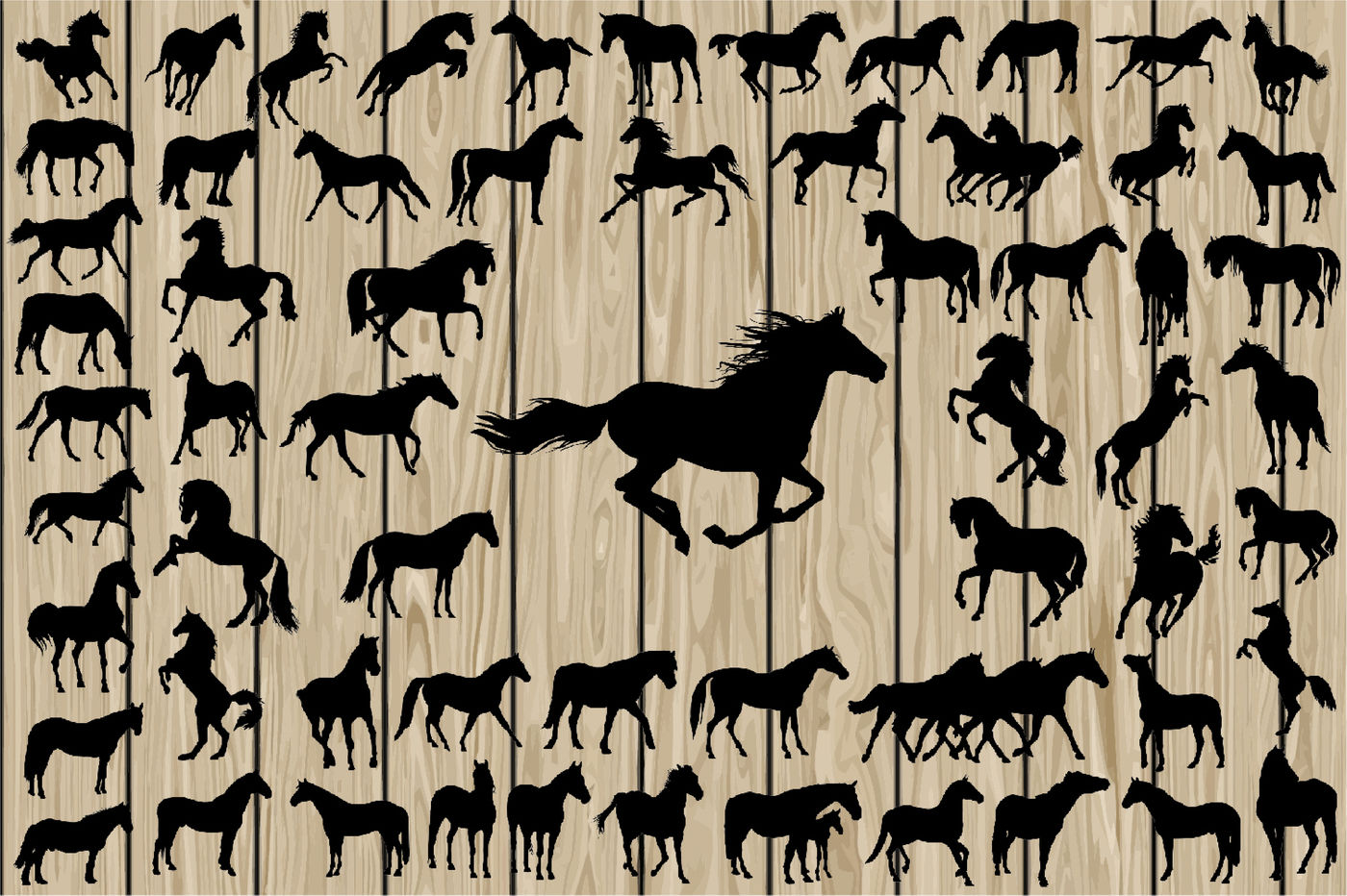 62 Horse Silhouette Svg Horse Vector Running Horse Svg Cutting