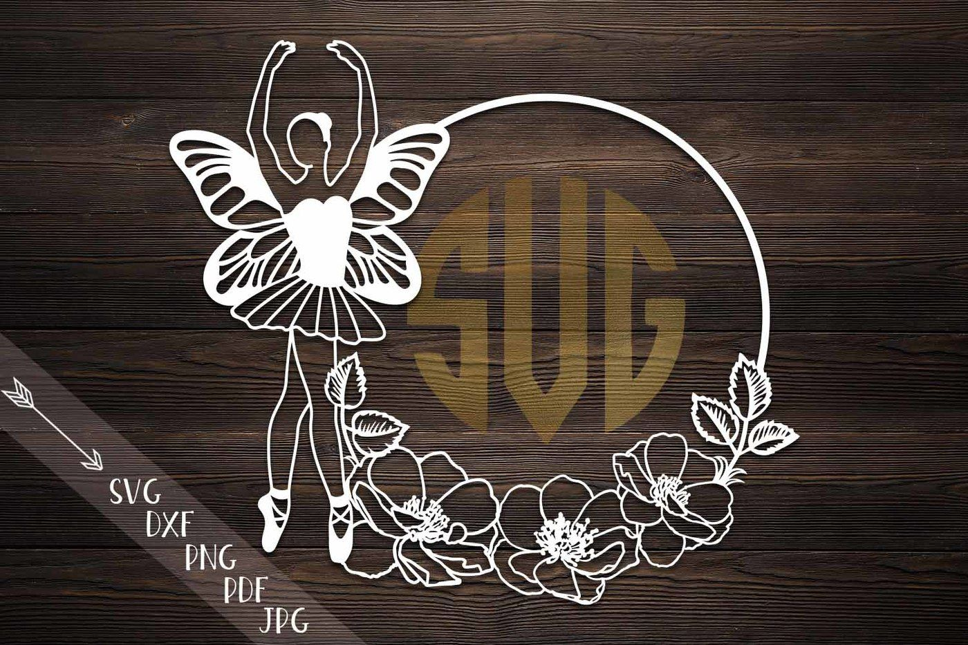 Ballerina Butterfly Wings Svg File Cutting Template Papercut