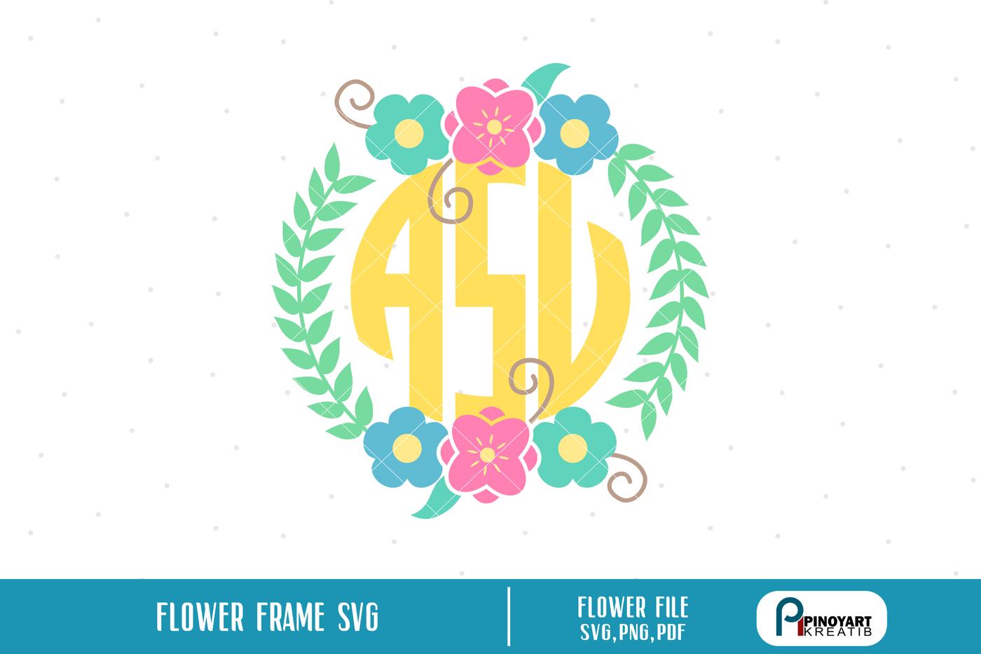 Flower Svg Wreath Svg Wreath Svg File Laurel Wreath Svg Floral