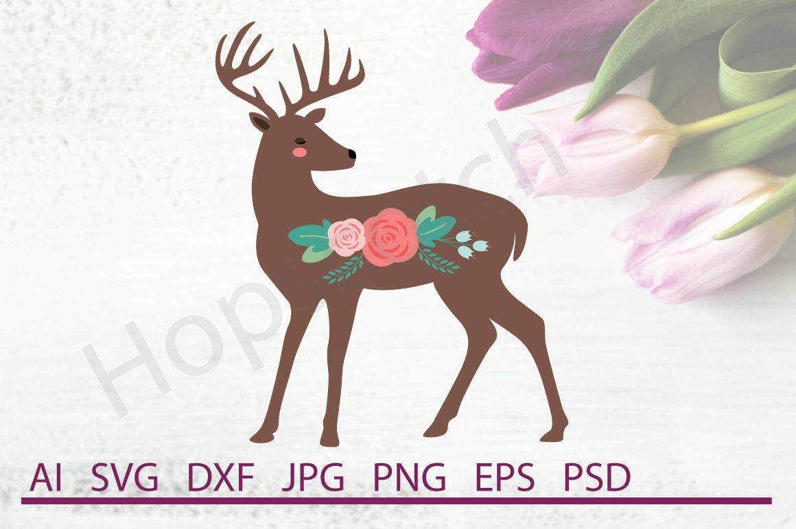 Deer Svg Deer Dxf Cuttable File By Hopscotch Designs