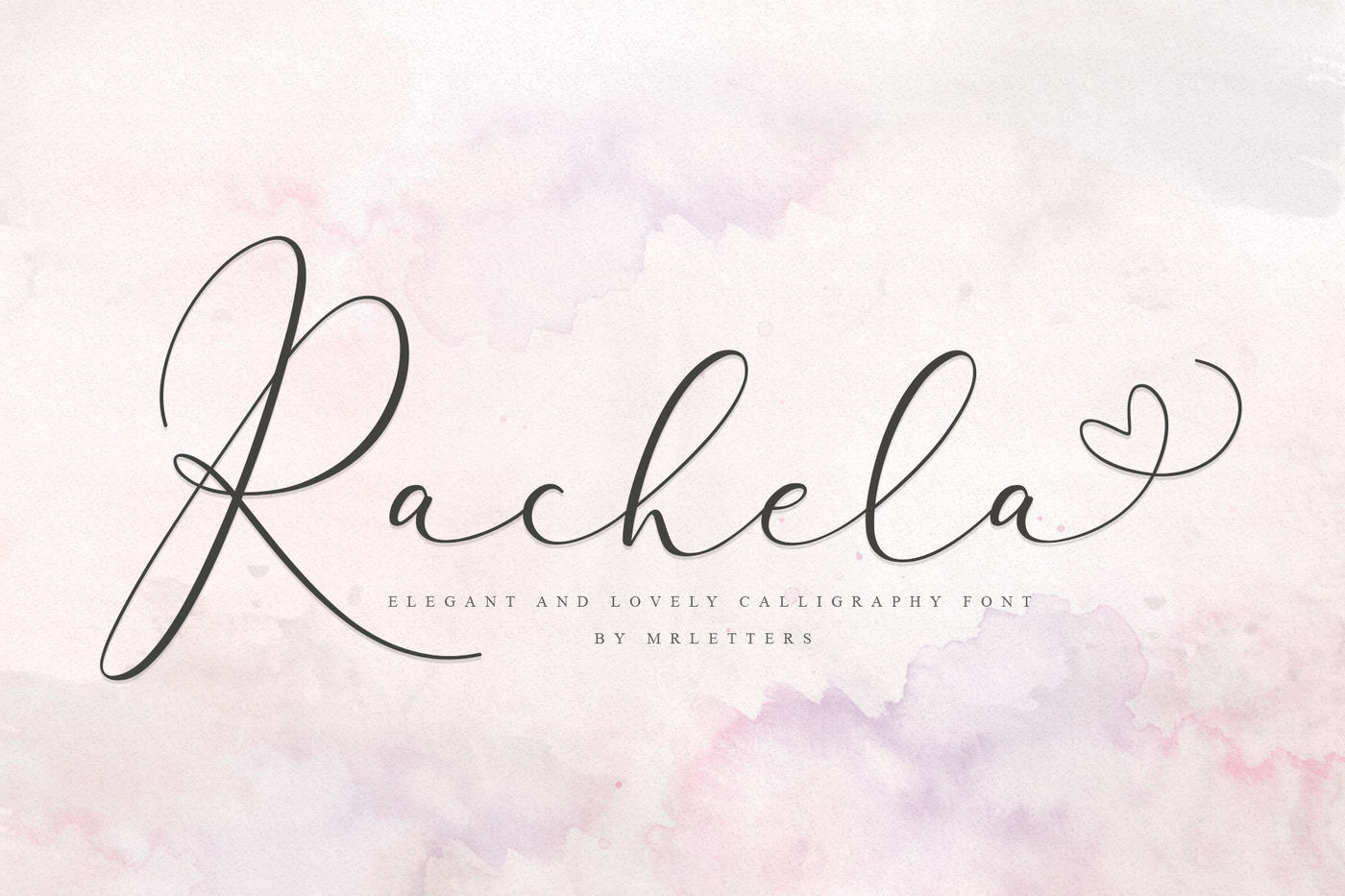 Rachela Lovely Calligraphy Font By Mrletters Thehungryjpeg Com