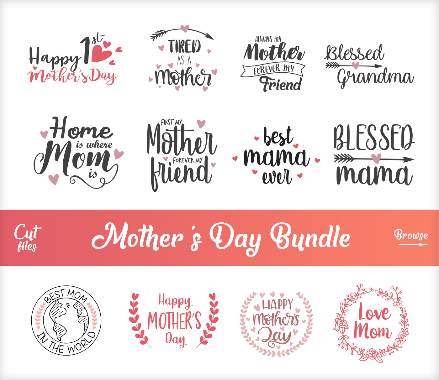 Mother S Day Svg Blessed Mama Svg Mother S Day Bundle Svg
