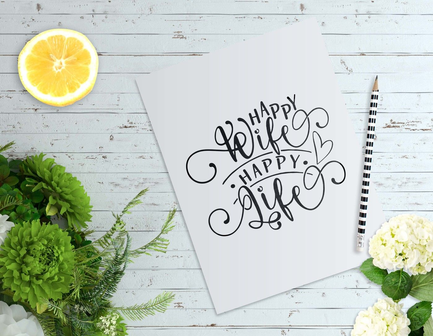 Happy Wife Happy Life Svg Dxf Eps Png By Theblackcatprints