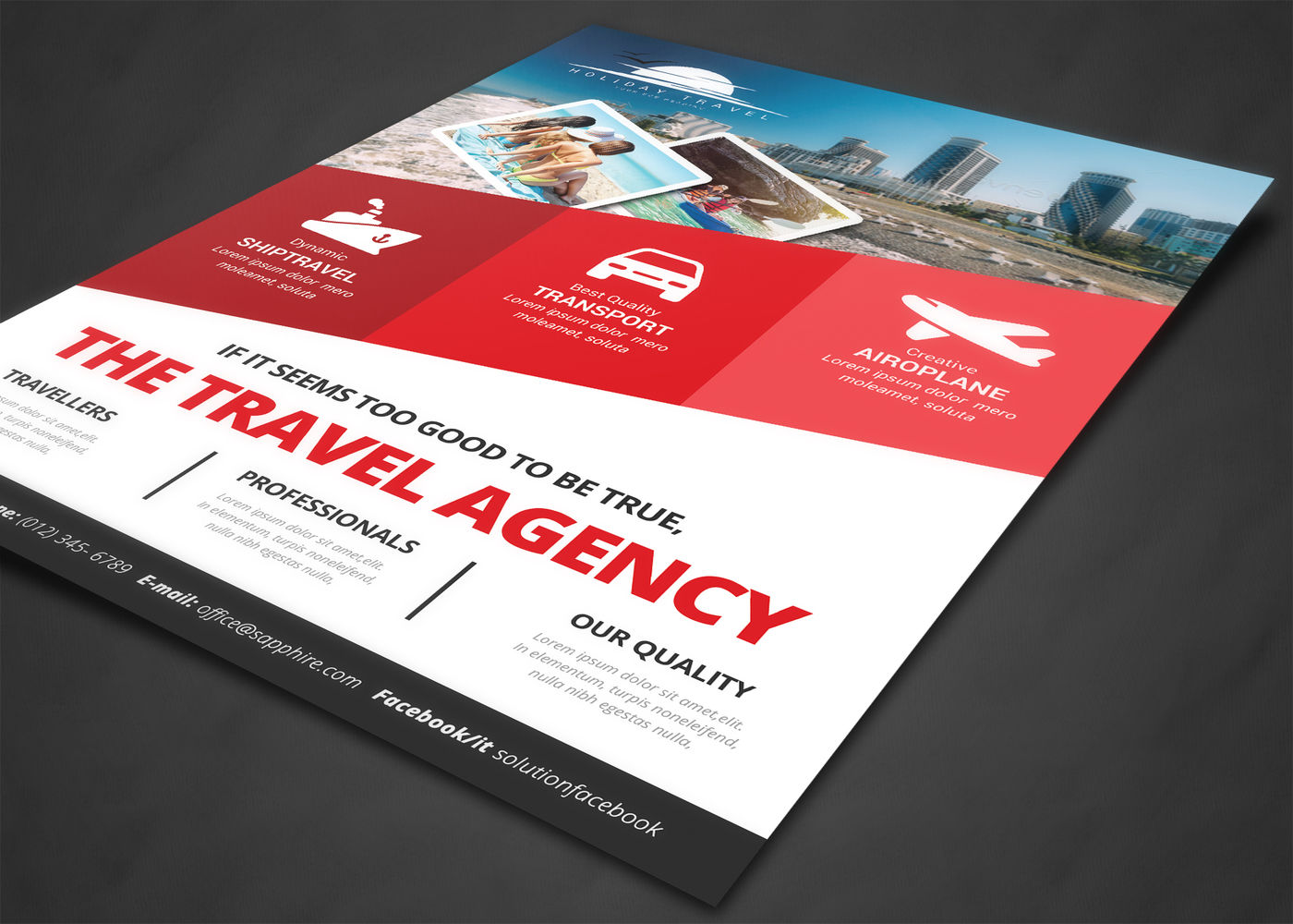 Travel Agency Flyer By Afzaal Graphics | TheHungryJPEG com