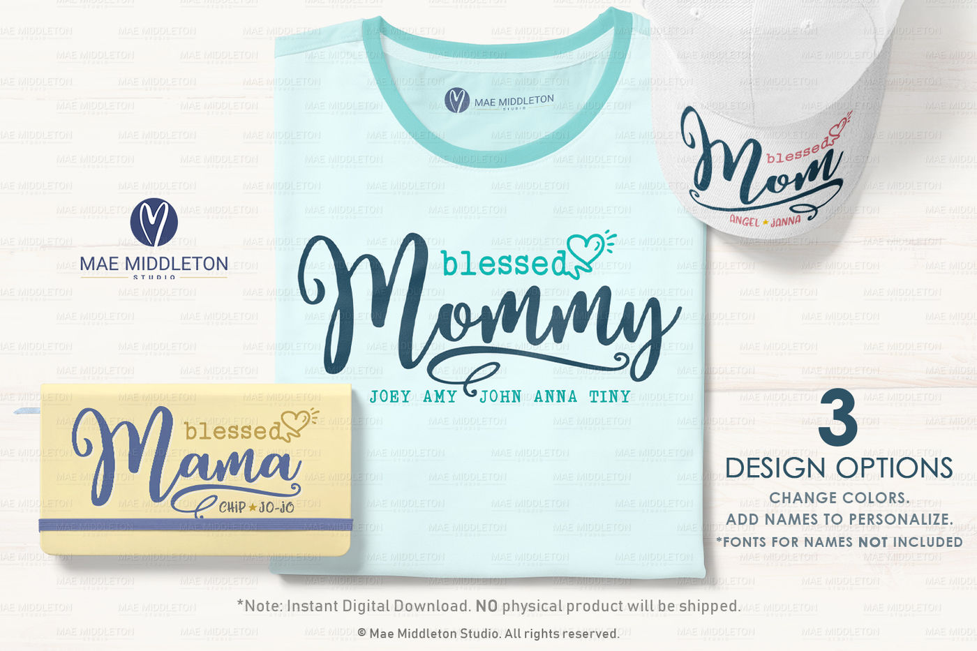 Blessed Mom Mommy Mama Printables Svg Files By Mae Middleton