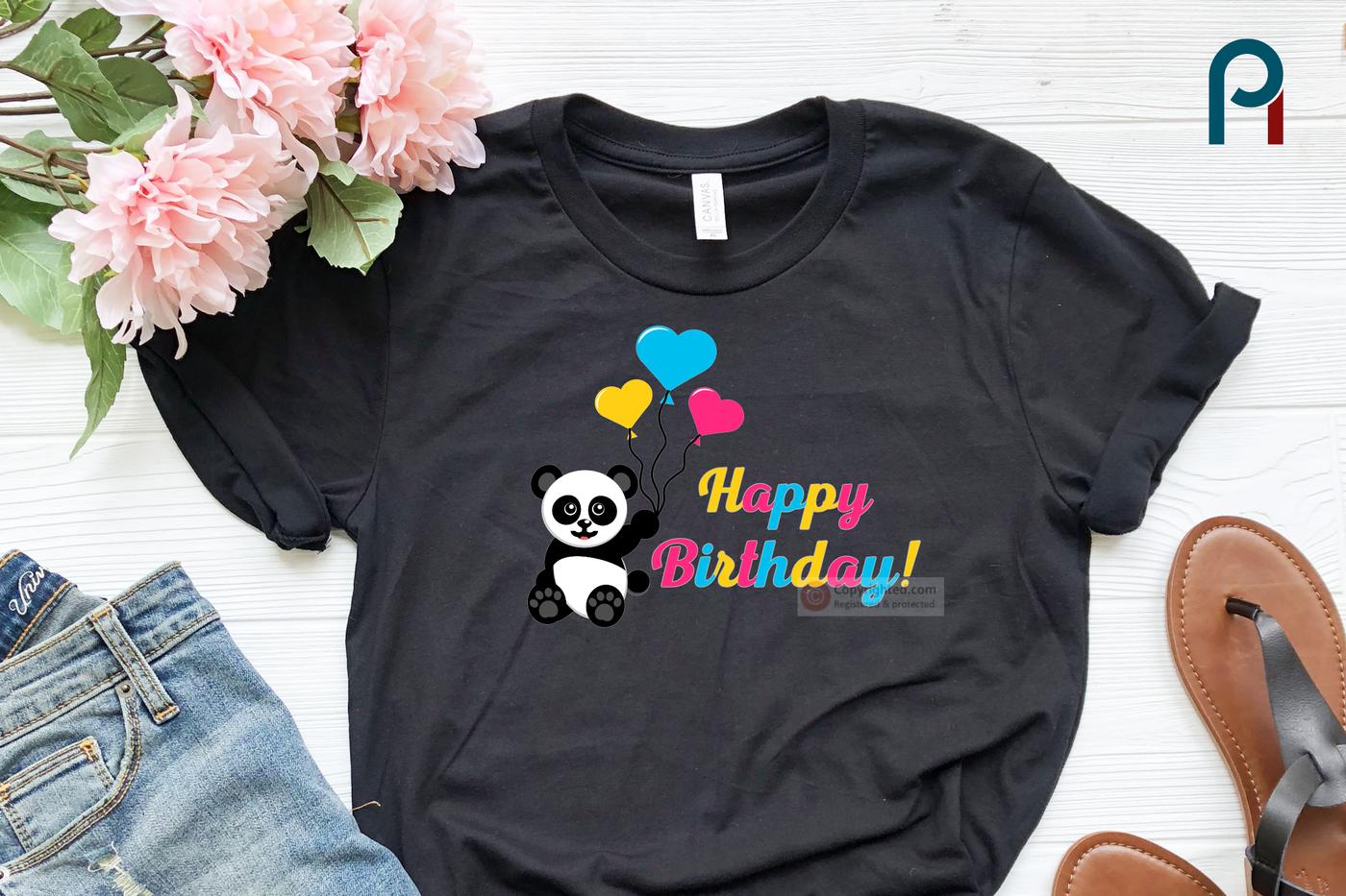 Panda Svg Panda Svg File Happy Birthday Svg Birthday Svg Svg