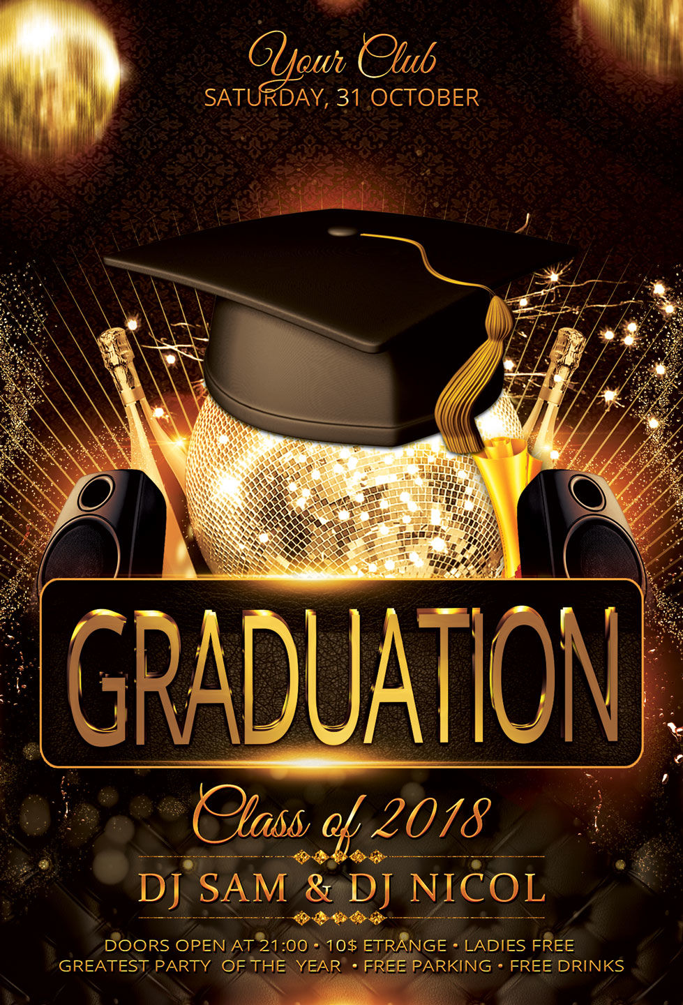 graduation party flyer template prom by artolus