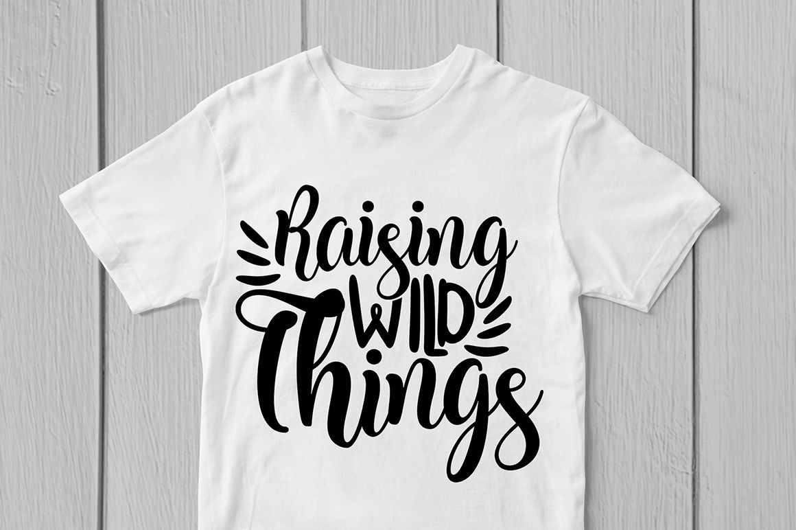 Raising Wild Things Svg Cut File By Coralcuts Thehungryjpeg Com