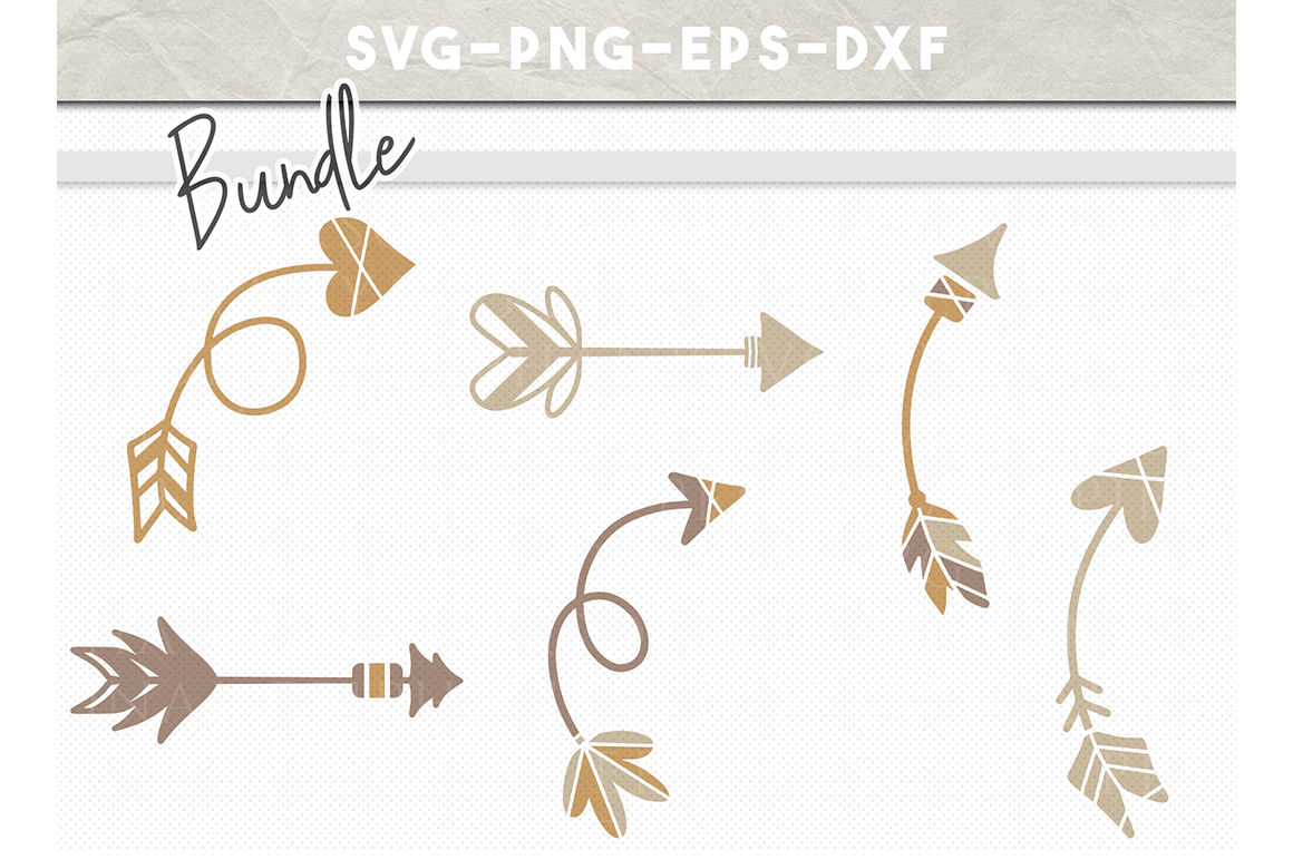 Arrow Bundle Svg File Handdrawn Tribal Arrows Boho Arrow Clipart