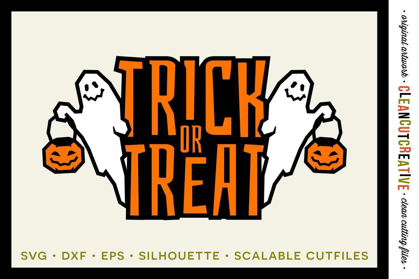 Halloween Trick Or Treat Silhouette.Svg Trick Or Treat Svg Halloween Svg Ghost Spooky Halloween