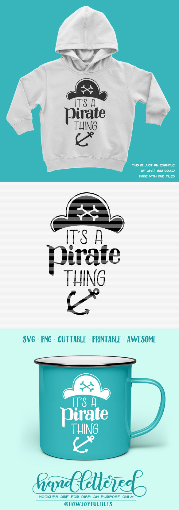 It S A Pirate Thing Ahoy Matey Hand Drawn Lettered Cut File By Howjoyful Files Thehungryjpeg Com