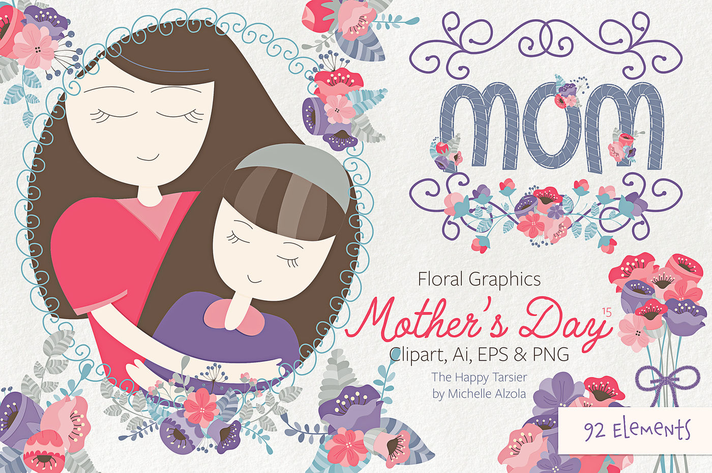 Mother S Day Clipart Vector 15 By Michelle Alzola