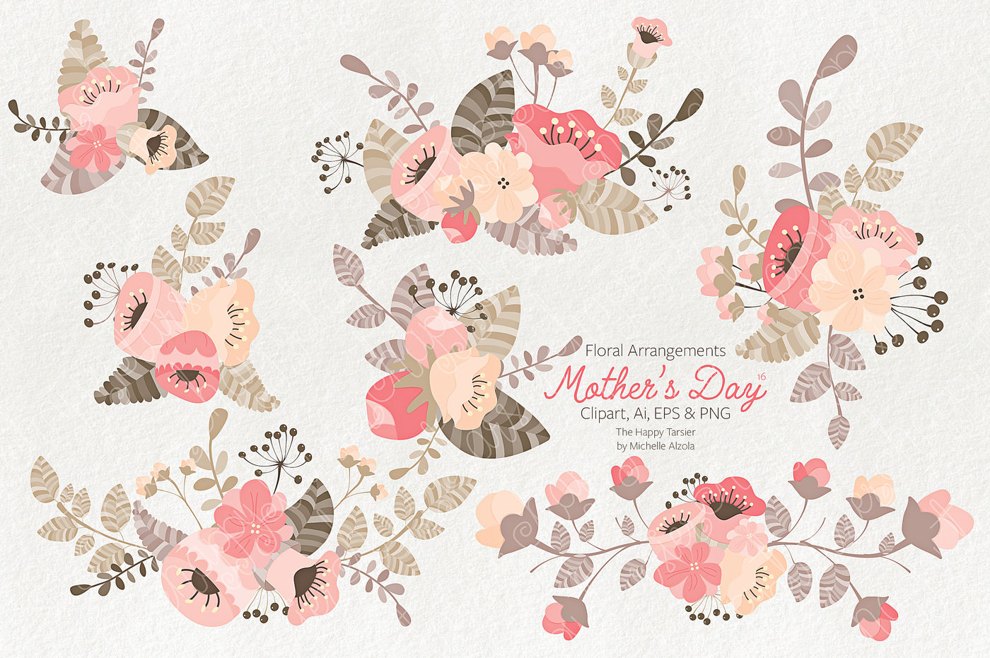 Mother S Day Clipart Vector 16 By Michelle Alzola