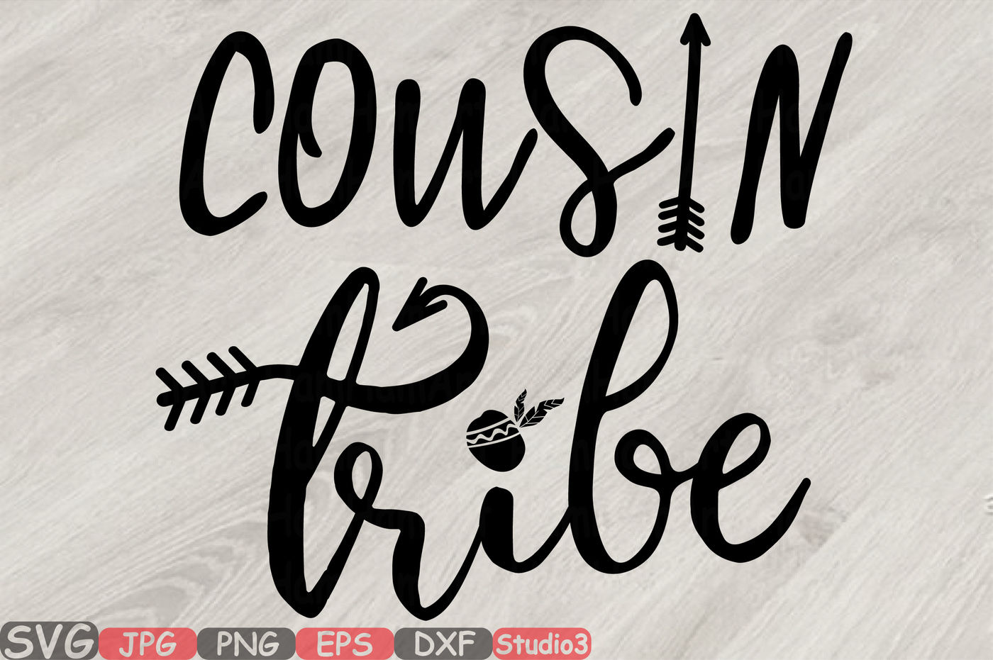 Cousin Tribe Silhouette Svg Iron On Shirt Coz 76sv By Hamhamart