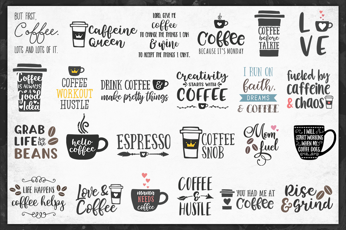 The Coffeehouse Svg Bundle 72 Value For 12 By Brandi Lea