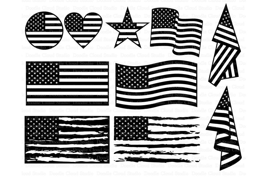 American Flag Svg Distressed Usa Flag Svg By Doodle Cloud Studio