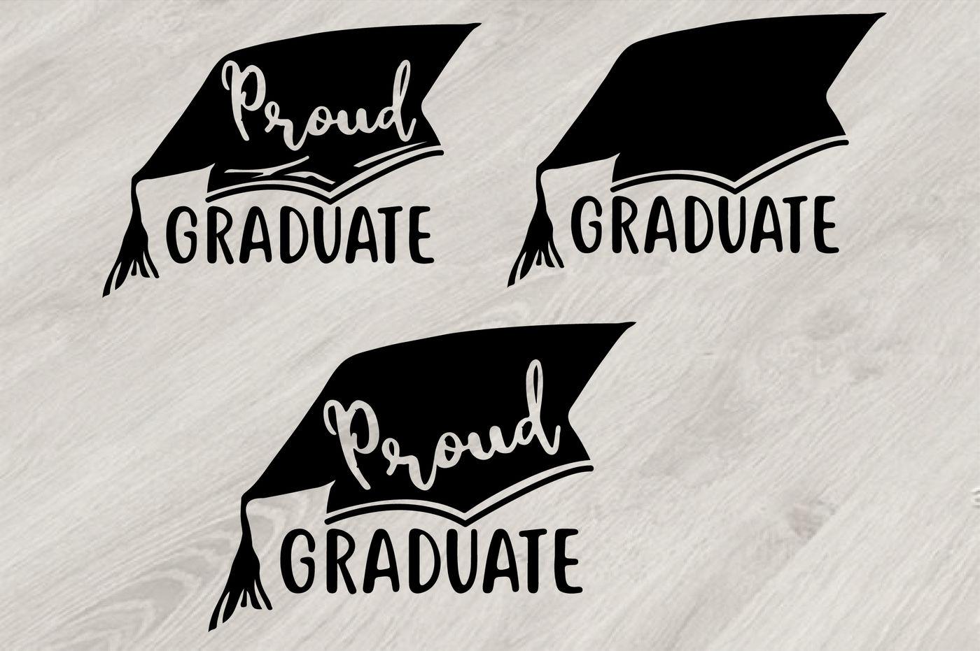 Proud Graduate Silhouette Svg Grad Cap Kindergarten High School