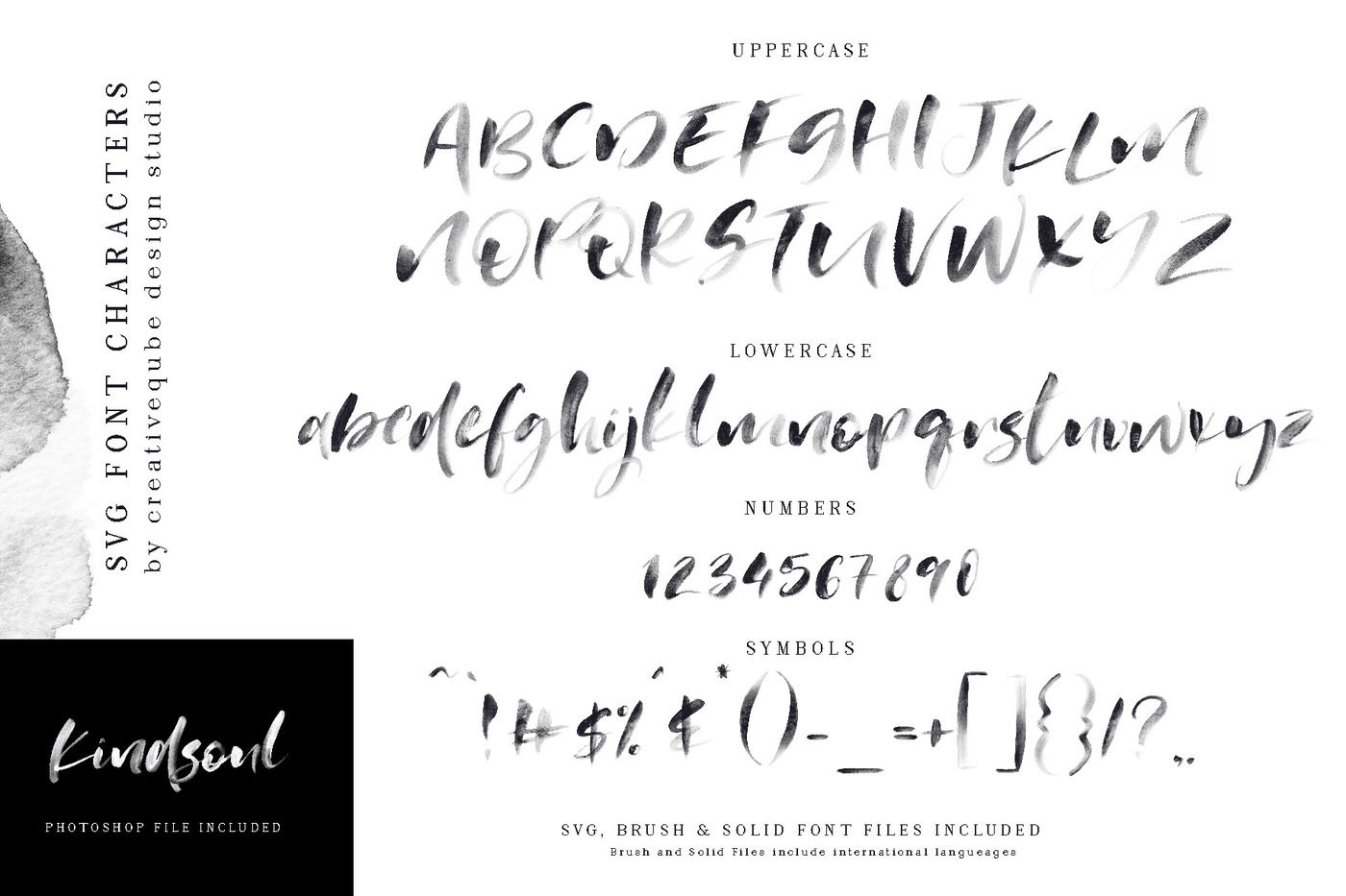 Kindsoul Svg Script Serif Font Duo By Creativeqube Design
