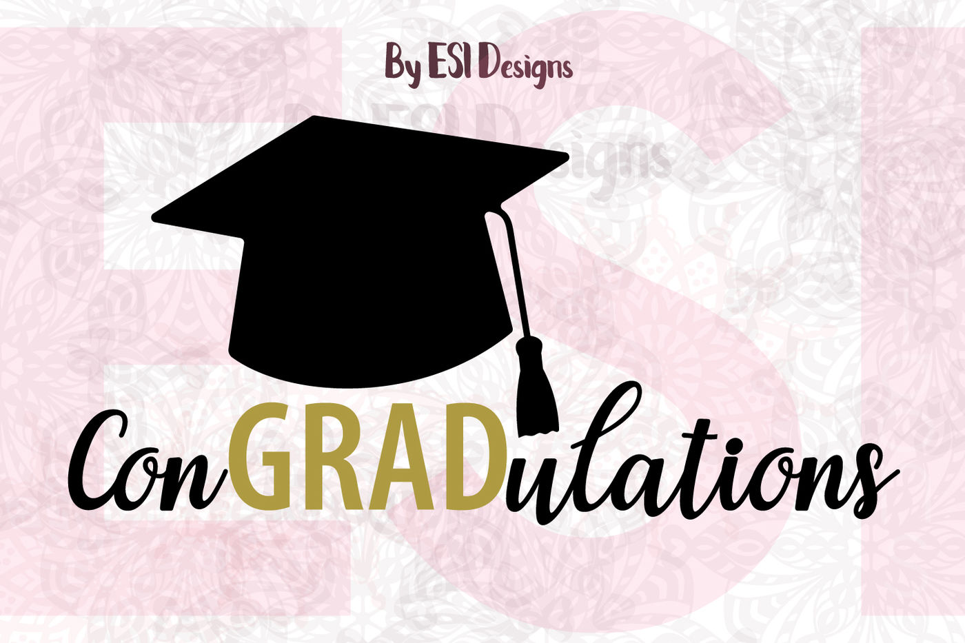 Congradulations Graduation Quote And Cap Design Svg Dxf Eps