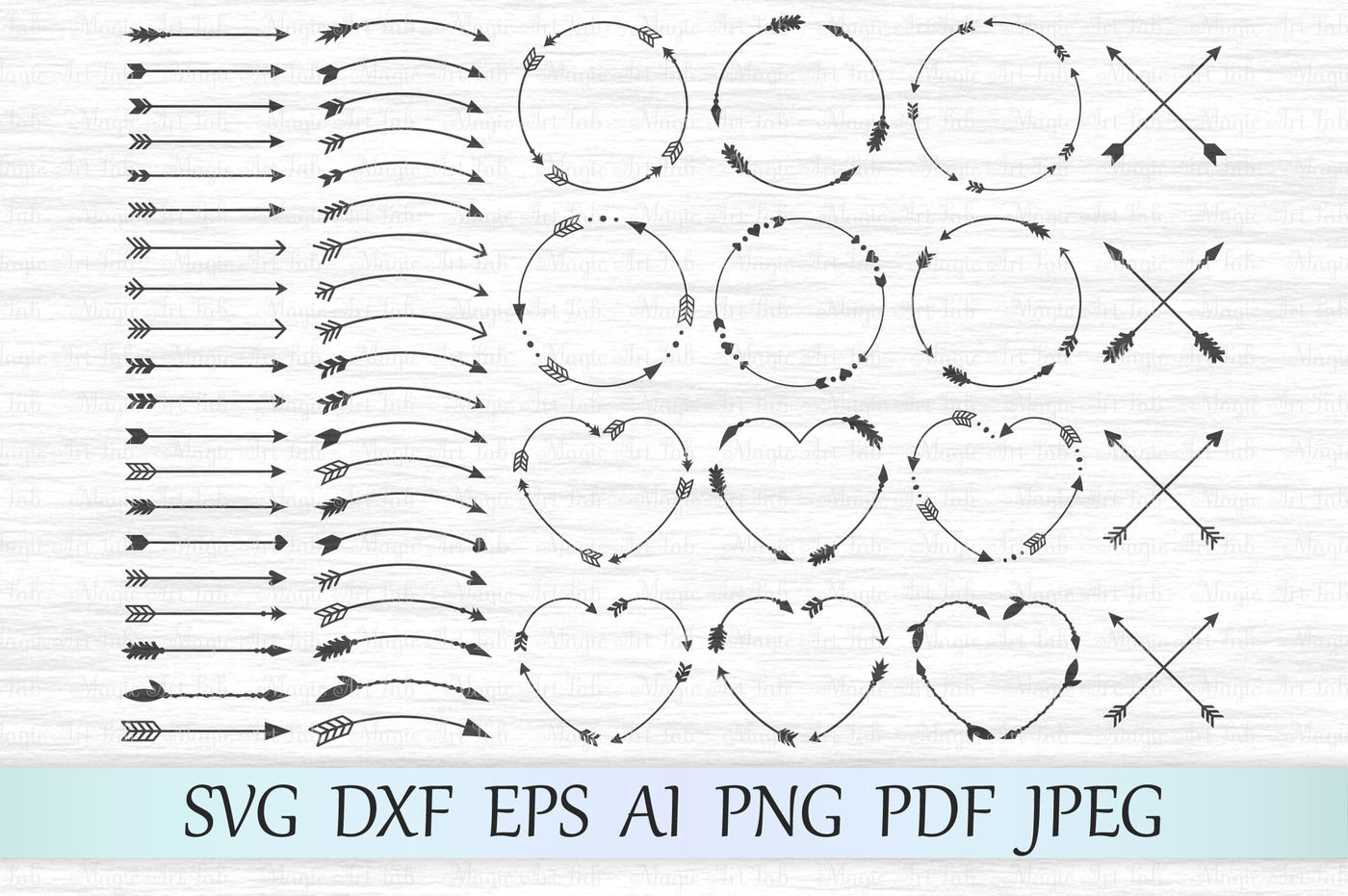 Arrows Arrow Monograms Svg Dxf Eps Ai Png Pdf Jpeg By