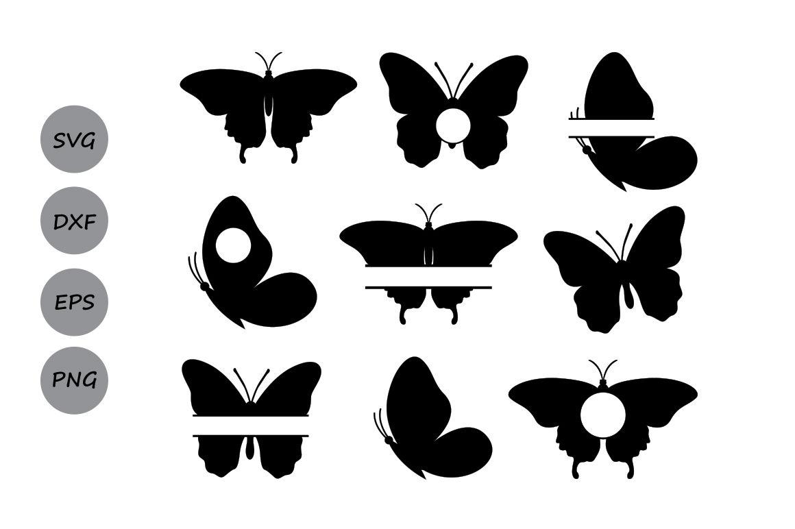 Butterfly Svg Butterfly Monogram Svg Butterflies Svg Silhouette