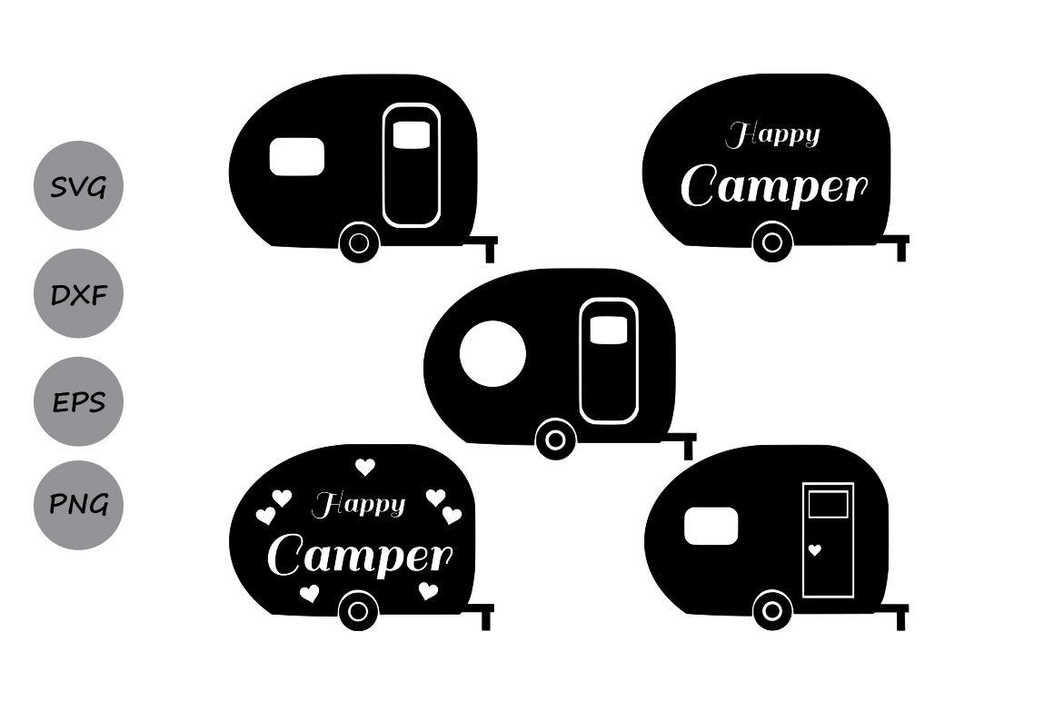 Camper Svg Cut Files Camper Monogram Svg Happy Camper Svg