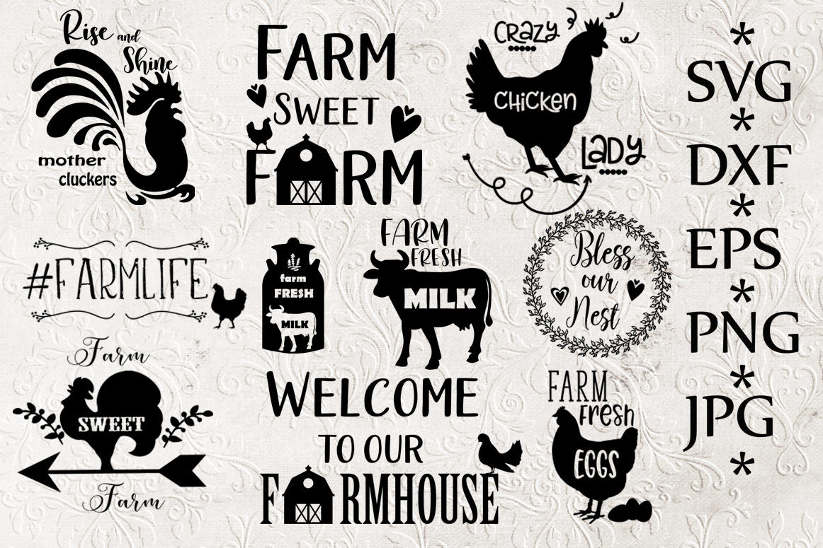 Bundle Farm Svg, Farm clipart By ChiliPapers ...