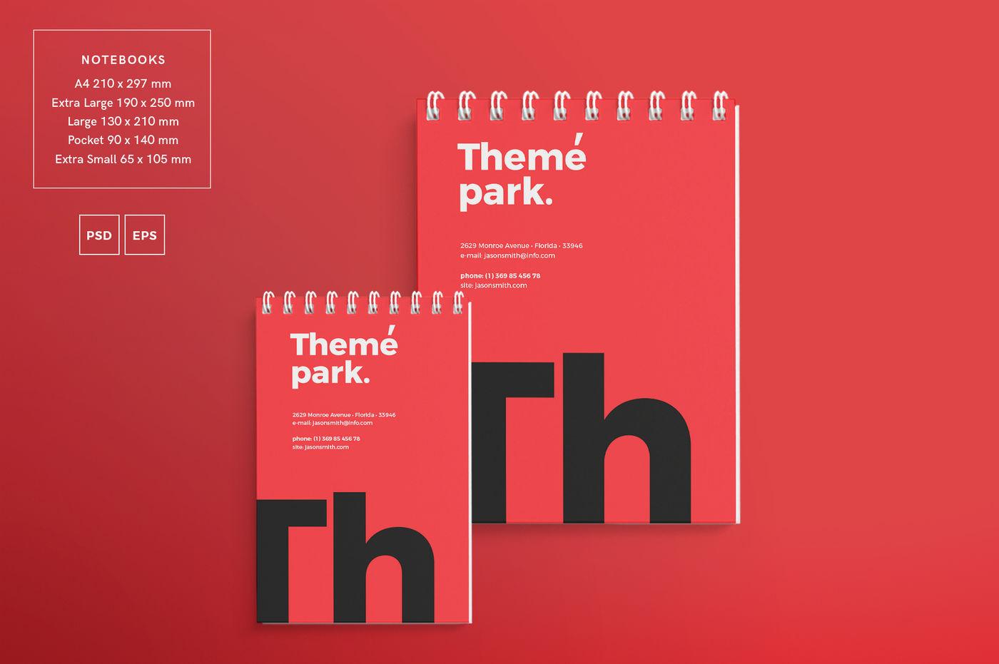 Design Templates Bundle Flyer Banner Branding Theme Park By