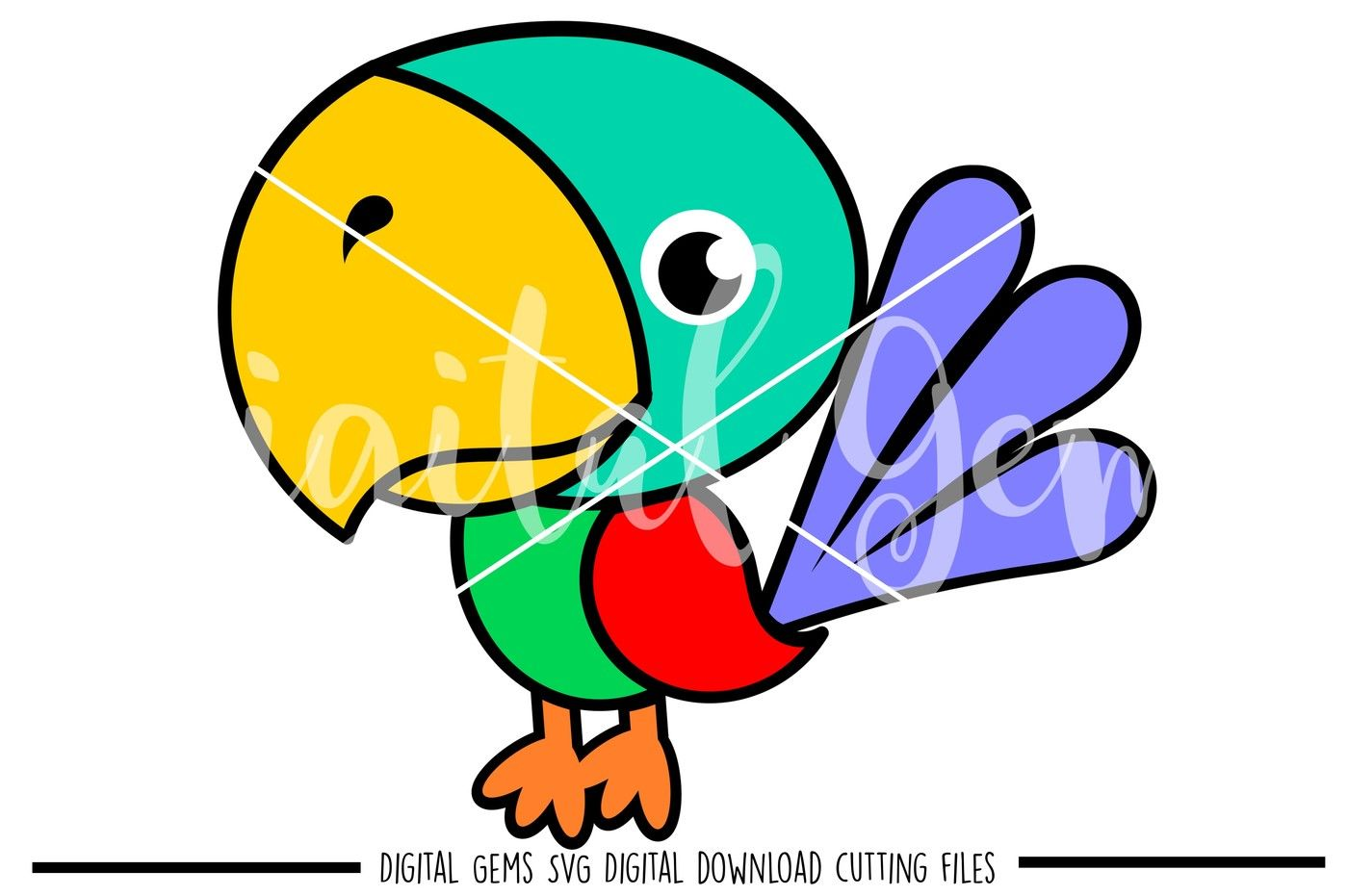 Parrot Cut File SVG,DXF,EPS Plotter File!