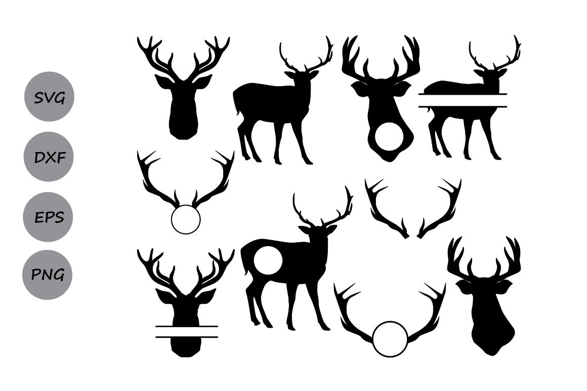 Deer Silhouettes Svg Deer Svg Deer Svg Cutting Files Deer