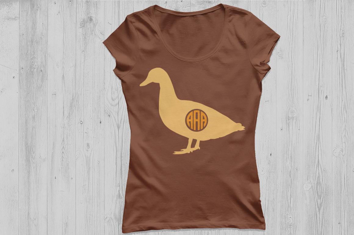 Duck Svg Cut File Duck Monogram Frames Farm Svg Duck Silhouette