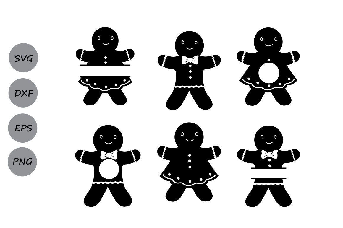 Gingerbread Man Svg Christmas Svg Gingerbread Monogram Svg Svg