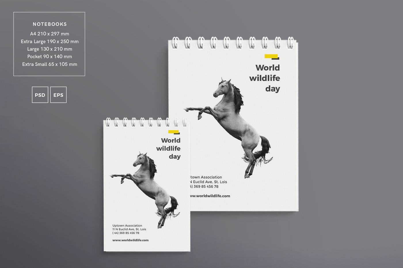 Download A5 Notebook Mockup Psd Yellowimages